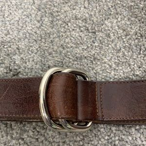 Limited Brown Leather Cinch Belt Size Medium